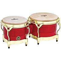 """LP Matador - Bongos de madera, color rojo, 7 1/4"""" y 8 5/8"""""""