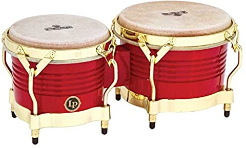 Latin Percussion LP811008 Matador Wood Bongos - Red/Gold