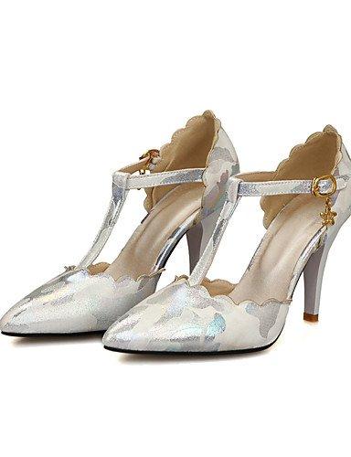 WSS 2016 Chaussures Femme-Mariage / Habillé / Soirée & Evénement-Noir / Bleu / Rose / Beige-Talon Aiguille-Talons-Chaussures à Talons-Microfibre beige-us6.5-7 / eu37 / uk4.5-5 / cn37