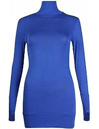 Damen Übergröße Kurzärmel Damen Stretch Hundezahn Tunika Minikleid Langes Top