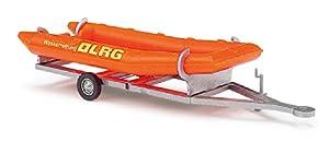 Busch-Jaeger - Vehículo de modelismo (H0 BU ANHÄNGER MIT SCHLAUCHBOOT DLRG BUV44924)
