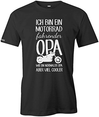Ich bin ein Motorrad fahrender Opa - Herren T-Shirt in Schwarz by Jayess Gr. XL (T-shirts Motorrad)