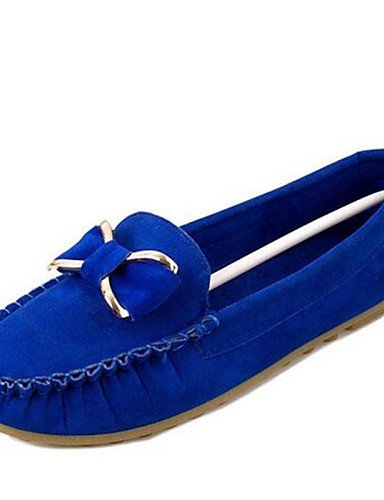 ShangYi gyht Scarpe Donna-Ballerine-Formale-Punta arrotondata-Piatto-Finta pelle-Nero / Blu / Verde / Borgogna / Fuchsia Blue