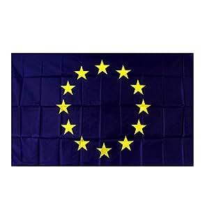 Drapeau européen de l'Europe CEE.1,50m X 0,90m nylon Mât fixation