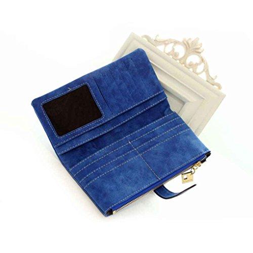 Miaomiao Due borse della borsa della borsa delle borse della borsa della frizione della borsa del cuoio dell'unità di elaborazione della matita pieghevole blu