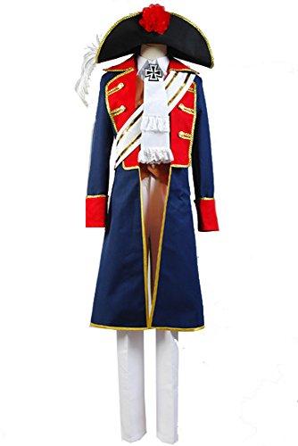 Hetalia: APH Axis Powers Preußen Uniform Cosplay Kostüm Herren Blau - Cosplay Preußen Halloween