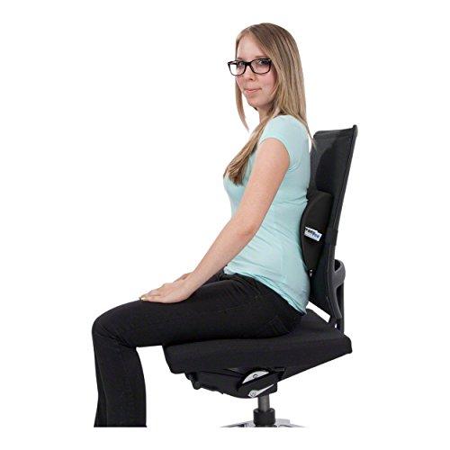 Lendenkissen mit Bezug und Gurt Sitzkissen Rückenkissen für Büro und Auto