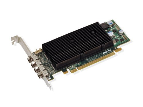 Matrox M9148 LP Grafikkarte (PCI-e, 1GB DDR2 Speicher, 4 DisplayPort, 1 GPU) -
