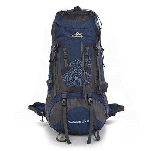 80L professionale alpinismo Borse grande capacità borse zaino impermeabile di usura di viaggio , green Dark Blue