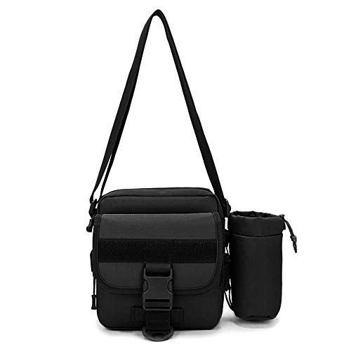 hultertasche mit abnehmbar Wasserflasche Tasche Militär Crossbody Bag USB Molle Umhängetasche wasserdichte Messengerbag Aktentasche für Camping Wandern Outdoor ()