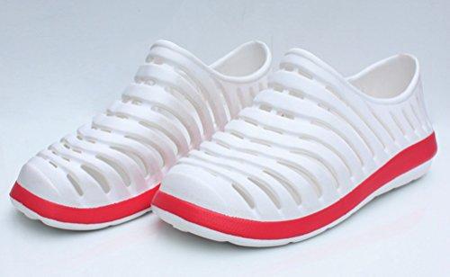 Heheja Femmes Eté Sandales Poids léger Plage Chaussures Sandales Confort Flip Flop Blanc