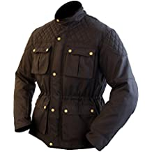 "Armr Moto Komura Chaqueta de moto textil de estilo retro–Negro, hombre, negro, M (42"" Chest)"