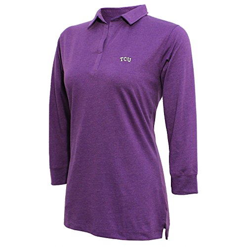 Crable Damen 3/4Sleeve Jersey Polo, Damen, Women's 3/4 Sleeve Jersey Polo, Erikaviolett, Medium (Jersey-top Sleeve 3/4)