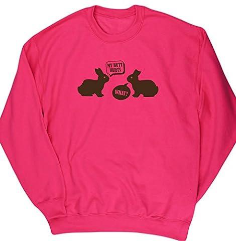 HippoWarehouse - Sweat-shirt - Homme - rose - Small