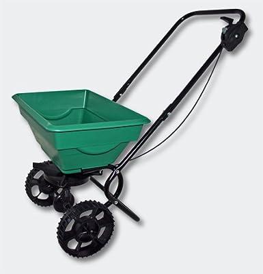 Handwagen Streuwagen 20kg mit Kunststoffreifen für Dünger Saatgut Streusalz Lava