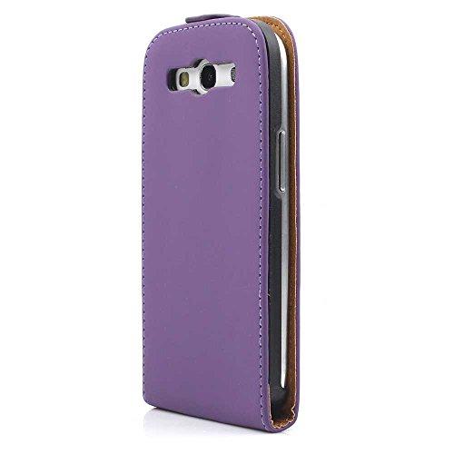 i9300 Galaxy S3 - S III Flip Tasche Cover Case Schutz Etui Handytasche - Handyhülle - Schutzhülle in Lila ()