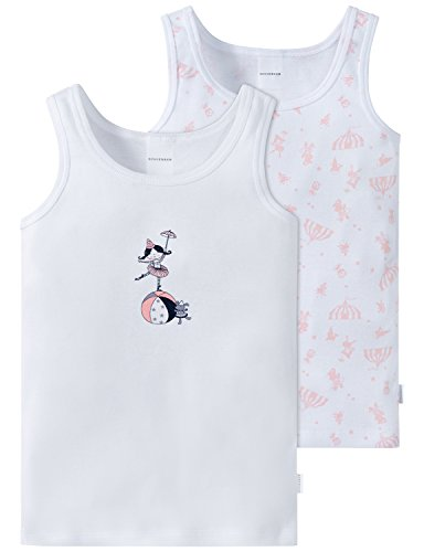 Schiesser Mädchen Unterhemd Multipack 2pack Hemd 0/0 2er Pack, Mehrfarbig (Sortiert 1 901), 128