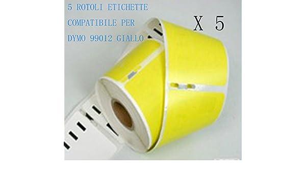 320 5 Rotoli Etichette adesive compatibile per DYMO 99012 S0722400 89mm X 36mm Dymo LabelWriter 310 330 450 Duo. 450 330 Turbo 450 Turbo 400 400 Duo 450 Twin Turbo 400 Twin Turbo 400 Turbo