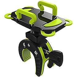 YOMYM Support Téléphone Vélo Etui Universel Support Smartphone Moto Rotation à 360 Degrés pour iPhone 4 5 5s 6 6S 6S Plus Samsung Galaxy (Vert)