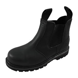 Amblers Unisex Steel FS5 Pull-On Dealer Boot/Womens Mens Boots (6 UK) (Black)