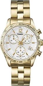 Reloj Timex T2P058D7 de cuarzo para mujer con correa de acero inoxidable, color dorado de Timex