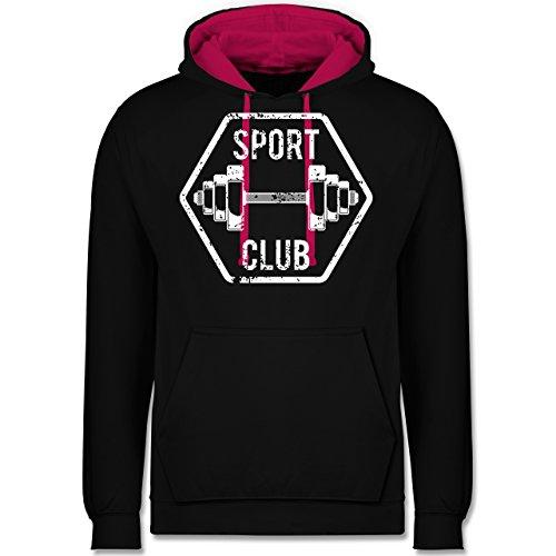CrossFit & Workout - Sport Club - Kontrast Hoodie Schwarz/Fuchsia