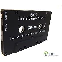 IDC © BluTape Bluetooth receptor coche / Van estéreo Cassette adaptador - vuelta un cassette estéreo estándar cinta Bluetooth reproductor de música inalámbrico. Stream de audio desde el reproductor de cassette convencional para su teléfono inteligente o tableta. Por ejemplo, Iphone 4 5 6 7 - Ipad o Samsung teléfono Etc. versión 4.0 + EDR Bluetooth.