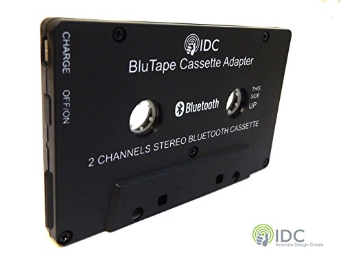 Bluetooth-adapter Kassette (IDC © BluTape Bluetooth Receiver Auto / Van-Stereo-Kassetten-Adapter - Turn eine standard Stereo-Kassette tape Player Bluetooth für kabellose Musik. Audio-Stream von Ihrem konventionellen Tape-Deck-Player auf Ihrem Smartphone oder Tablet. Z.B. Iphone 4 5 6 7 - Ipad oder Samsung Handy Etc. Version 4.0 + EDR Bluetooth.)