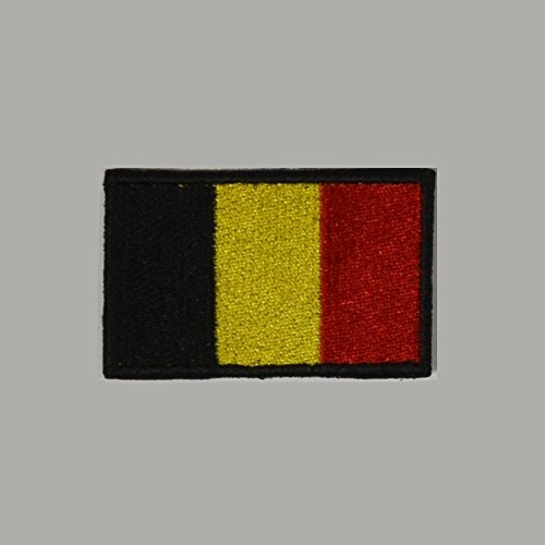 TOPPA PATCH RICAMATA BANDIERA BELGIO (Belgio Flag Patch)