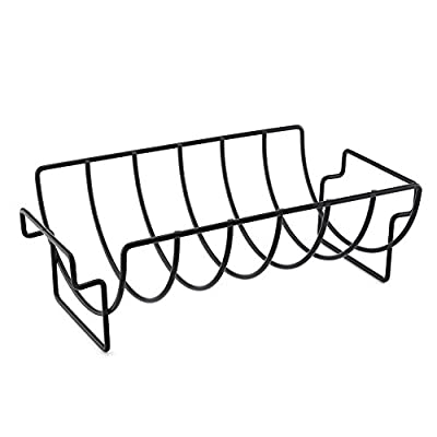 Bulary BBQ Rib Rack Nicht-Stick Metall Drahtständer Grill Steak Halter Braten Rib Rack BBQ Zubehör Küche Werkzeug