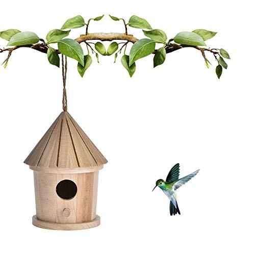 Sommer's Laden Outdoor Holz Hängend Vogelhaus Vogelhäuschen, 110×110×140mm Unigiftiges Vogelnest Zuchtbox, Geeignet Für Gartenarbeit Familien Innen Und Außendekoration