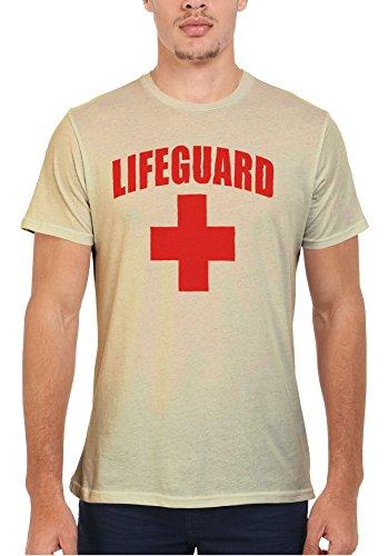 Life Guard Sexy Cool Funny Men Women Damen Herren Unisex Top T Shirt Sand(Cream)