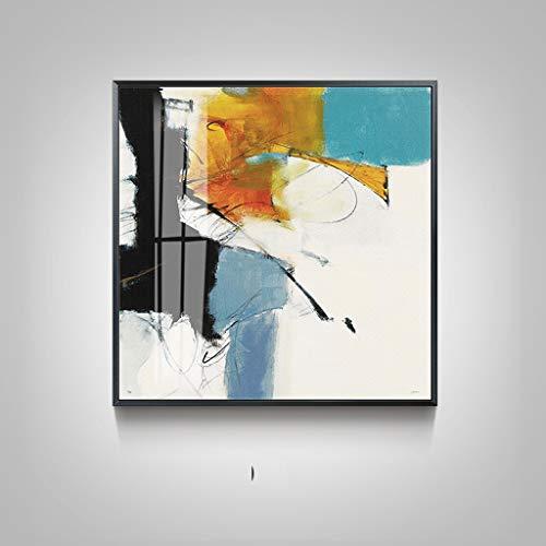 YYFRB Eingangsflur, abstrakt, quadratisch, dekorative Malerei, Sofa, Hintergrund, Wandfarbe (Farbe kann mehr als eine Auswahl Sein) Wandfarbe, D, 43×43cm -