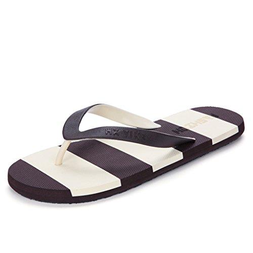 Pantofole uomo estivo, moda creativa flip-flops antisdrucciolo uomini pantofole per spiaggia pattini freddi studenti antiscivolo ( colore : b , dimensioni : 27.5cm )
