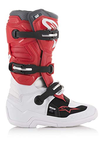 Bottes Moto Cross ALPINESTARS Tech 7S White Red Gray-42