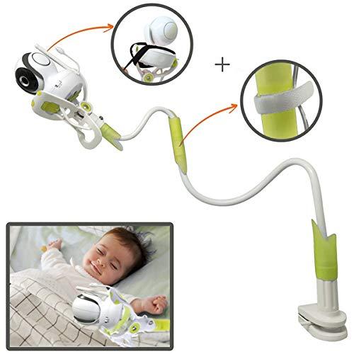 Soporte Universal para Cámara de Bebé, 85cm Sostenedor de Vigilabebés con Correas, Accesorios de Baby Monitor con Manguera Flexible, Compatible con La Mayoría de Los Monitores para Bebés Verde BP139