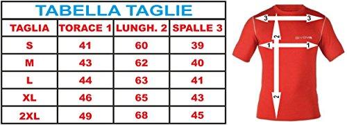 GIVOVA CORPUS 2 MAGLIA INTIMA ELASTICA M/C Calcio Jogging Calcetto Torneo Scuola Sport rot