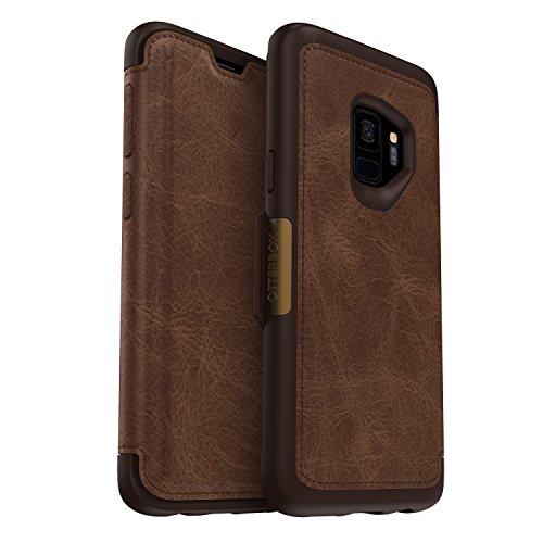 Galaxy Skins Für Otterbox (OtterBox Strada Sturzsichere Folio Leder Schutzhülle, (geeignet für Samsung Galaxy S9) braun)