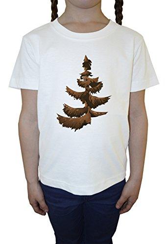 conifere-blanc-coton-filles-enfants-t-shirt-col-ras-du-cou-manches-courtes-white-girls-kids-t-shirt
