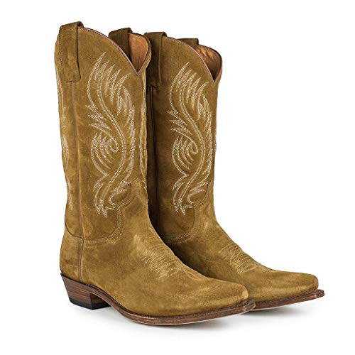 Sendra Boots Bota Western en Serraje 2605 Red Color Marrón 44 EU