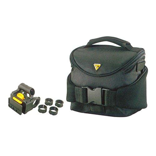 Topeak Compact Handlebar Bag & Pack, w/Fixer 8 Alforja, Sin género, Black, Talla Única