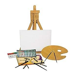 Set pittura colori acrilici cavalletto idea regalo for Cavalletto pittore