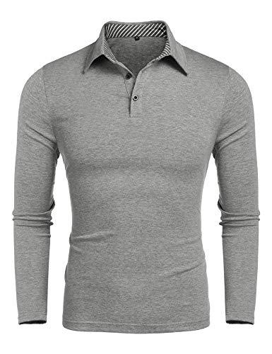 a323e686fe Poloshirts Herren Langarm Poloshirt Softknit Polohemd Golf T-Shirt