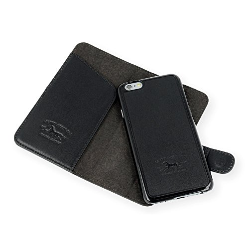"QIOTTI >              APPLE iPHONE 6 / 6S (4,7"")              < incl. PANZERGLAS H9 HD+ 2-in-1 Booklet mit herausnehmbare Schutzhülle, magnetisch, 360 Grad Aufstellmöglichkeit, Wallet Case Hülle Tasche handgefertigt aus hochwe SAND"