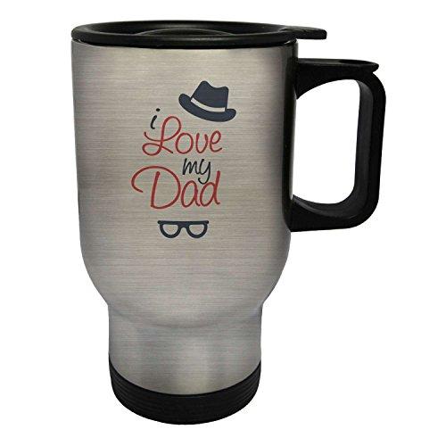 Ich liebe meinen VATI-intelligenten Brille-Hut Edelstahl Thermischer Reisebecher 14oz 400ml Becher Tasse m72ts