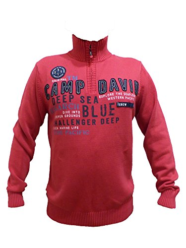 CAMP DAVID PULLOVER ESPECIALLY FOR MEN 2017 HW FLAG RED TROYER CCU-1711-4689PC S M L XL XXL XXXL (L)