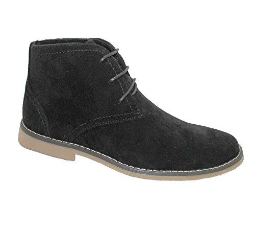 Pour Homme En Daim désert Bottes d'hiver Casual à lacets cheville haute Top Classic chaussures Taille 8 UK
