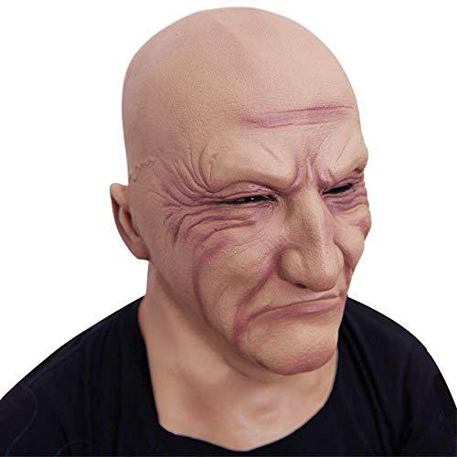 Sisit Latex Maske Cosplay Requisiten schreckliche Gangster Gesellschaft Kopf Set H Halloween Maskerade Kopf MaskParty Requisiten Halloween Kostüm Zubehör für Erwachsene und - Gangster Kostüm Requisiten