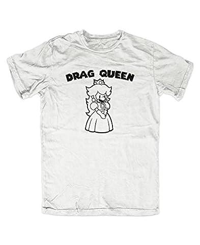 Drag Queen Mario T-Shirt (L, Weiß)