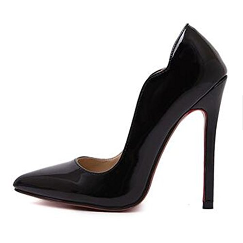 Wealsex Noir 35 Pu Grande Aiguille Escarpins Taille 39 Talon Femme 5wXOxw6